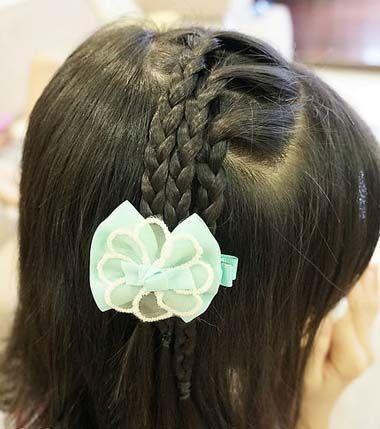 儿童发型 >> 所有适合小孩子的中长发型编法 小女孩编辫子发型扎法图片
