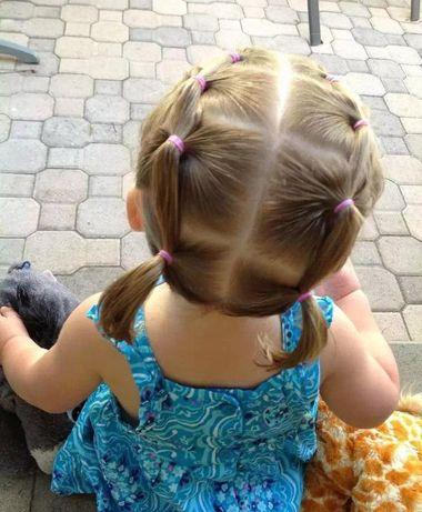 如何帮两岁宝宝编头发图片