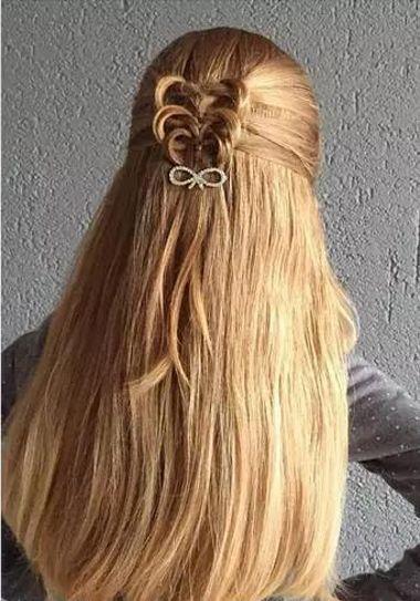 13岁女孩怎么编头发好看 给小孩编好看的头发图片