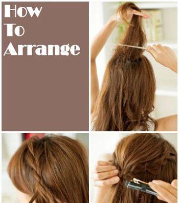 中长发发型扎法步骤 夏日简单发型扎发