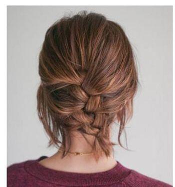 发型设计 短发 >> 中短头发怎么盘好看