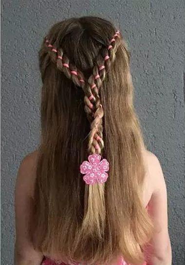 儿童双编精致长发公主头发型-怎样编小孩发型大全 女童发型编发大全