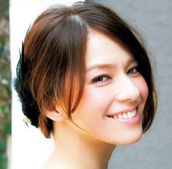 圆脸短发盘什么发型好看 圆脸齐肩短发盘头发型图片