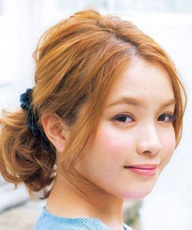 没有刘海简单学生短发怎么扎好看 没有刘海的马尾学生图片