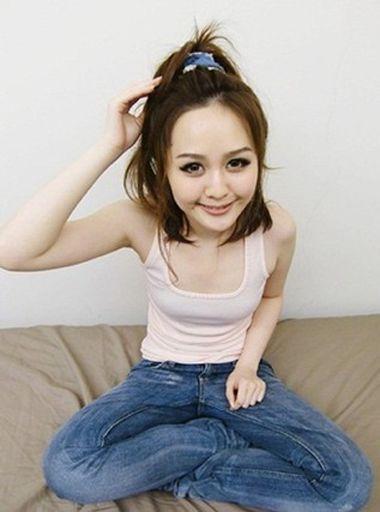 无刘海中短发学生扎马尾辫发型-没有刘海简单学生短发怎么扎好看 没