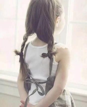 小学生适合的发型 扎起来的直发