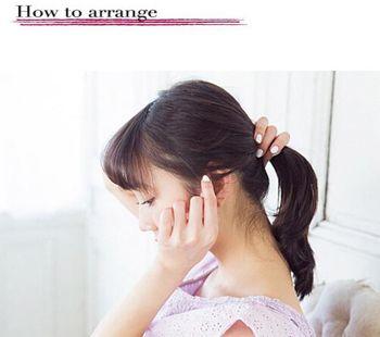 简单的发型扎法[头发少] 扎美丽发型步骤图片