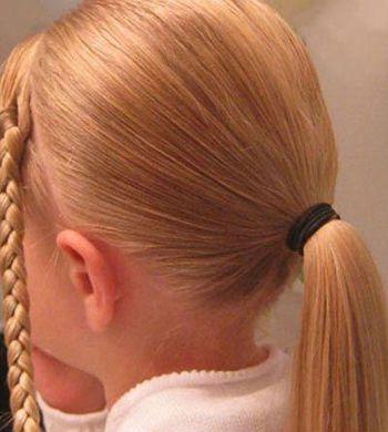 儿童怎么盘普通头发图片图片