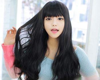 黑直发尾怎么烫好看 黑色长烫头发(2)_发型师姐图片