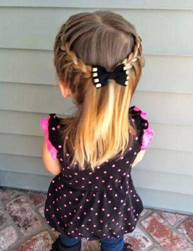 小女孩中短发双编发发型