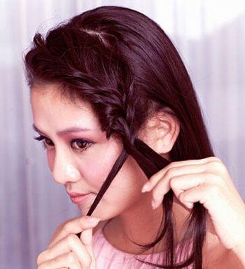 新娘发型图片编发步骤