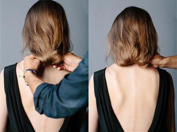 女士长发盘成短发发型步骤