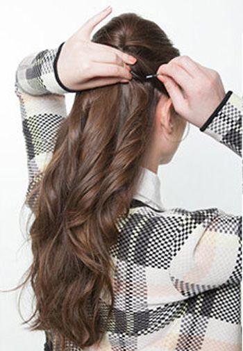 卷发怎么盘头发的方法图解