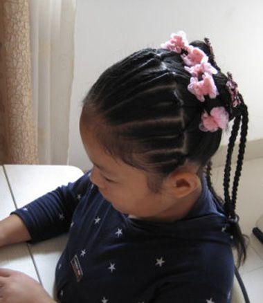 教你编短发马尾辫 小孩马尾辫的编发(4)
