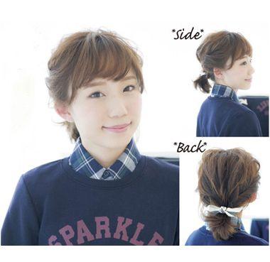高中学生短发怎样扎头发 适合高中生的头发扎法_发型图片