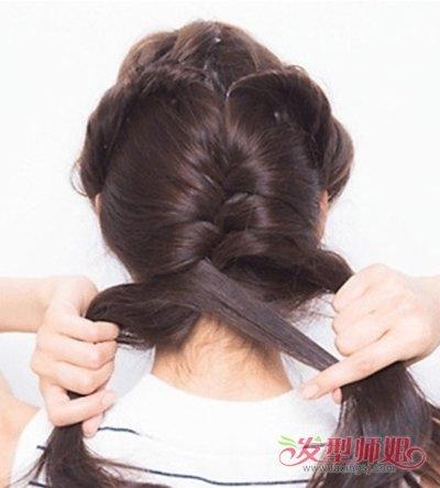 最简单可以自己编的发型 编小辫子发型图解(2)