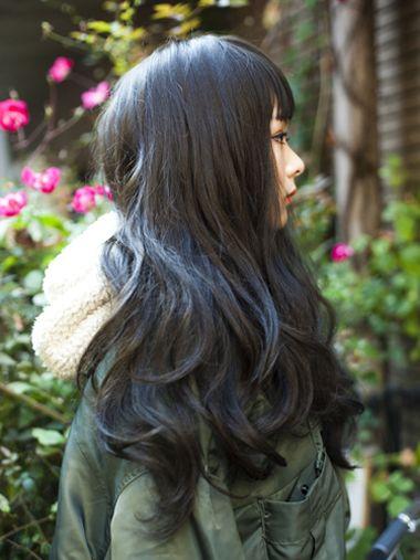 长发黑色烫发大卷发型发簪图中烫卷黑色头发发型用长发图片
