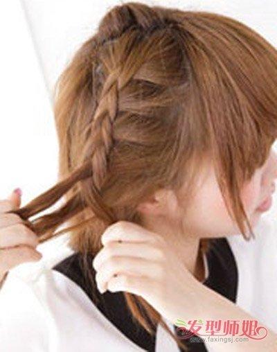 初中学生发型扎法图片