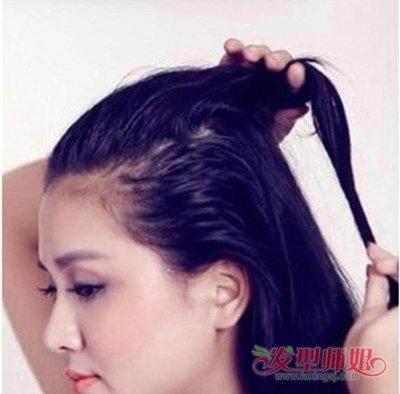 露额头怎样扎头发好看 高额头扎头发的方法图解图片
