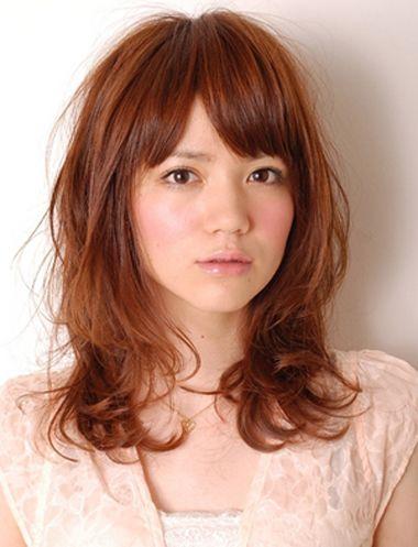 斜刘海少发量梨花头发型-梨花头适合的发型 2016中长梨花刘海头发型
