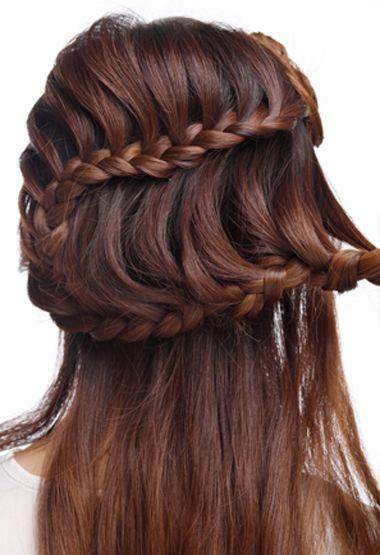 教我盘个简单又大方的新娘发型 新娘盘发发型图片中长发(7)图片