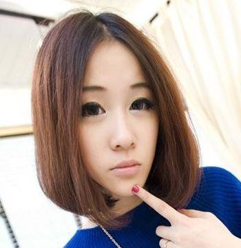 国字型脸适合梨花烫或内扣发型吗 中长梨花渐变色 3