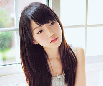 斜刘海发型图片女2016