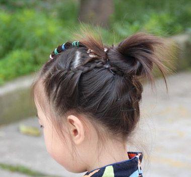 发型设计 儿童发型 >> 现在女童流行盘什么发型 女大童盘发发型(3)图片