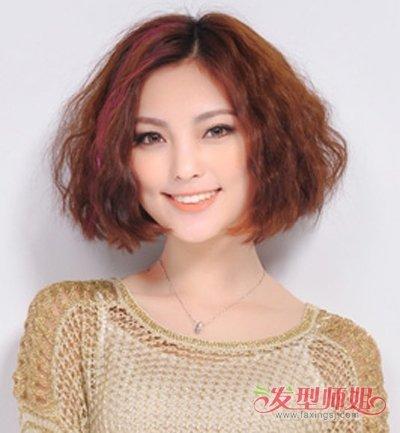 发型设计 中年发型 >> 中年人怎么打理刘海 适合30岁女人的刘海发型图片