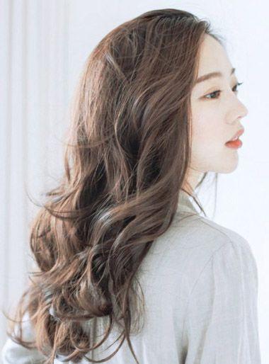 女士韩式中长发烫发发型 韩国烫发中大卷发型图片(3)图片