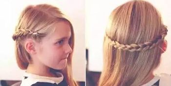 发型设计 儿童发型 >> 给2岁的女宝宝头发较短怎么编发好看 帮小宝宝图片