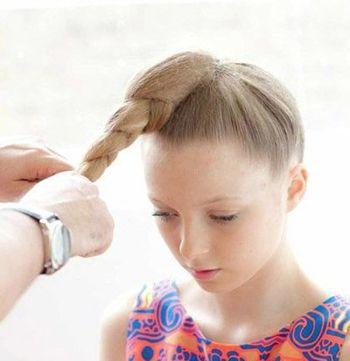儿童短发编发图解100种_25种公主发型扎法图解_女童的发型扎法100种
