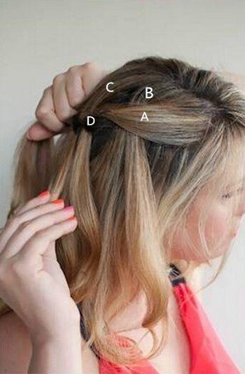 中长发编发发型 最简单编辫子发型扎法图解(2)