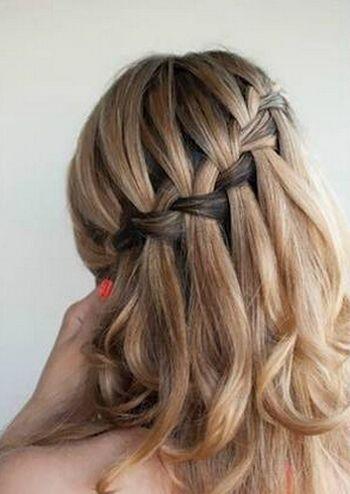 中长发编发发型 最简单编辫子发型扎法图解(5)图片