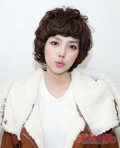 韩国女生漂亮超短流行2017韩国最图解烫发(2)_长发发型蓬松扎发发型扎法烫发图片