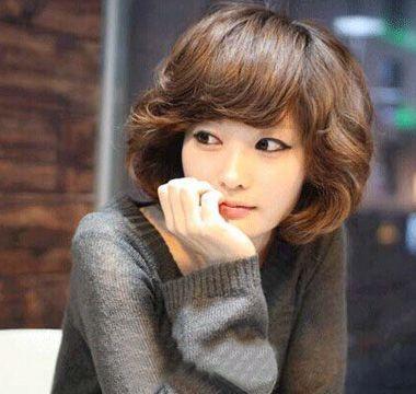 女生韩式烫发短发图片大全大图 发型师姐
