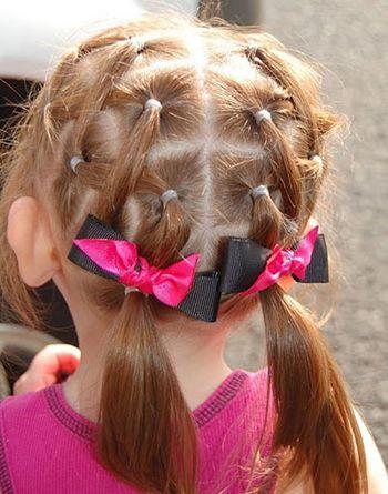 儿童女孩好看的发型扎法 儿童头顶扎发发型(2)图片
