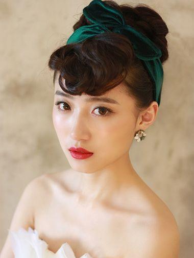 短发新娘盘头(3)_发型