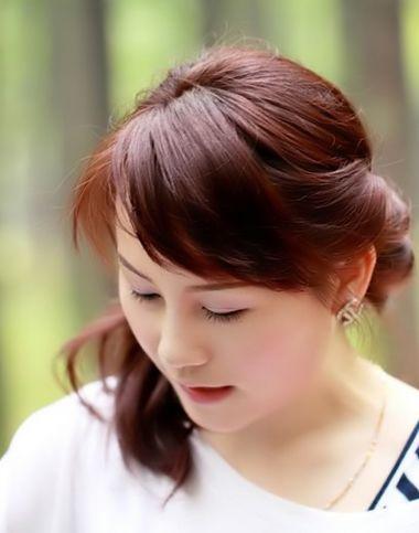 好看的女生不烫不染扎发(2)图片