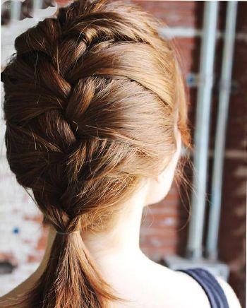 短发怎样编头发好看步骤 女生短发编头发(3)