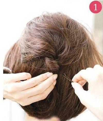 中短直发怎么扎头发好看 直的短头发的扎法图片
