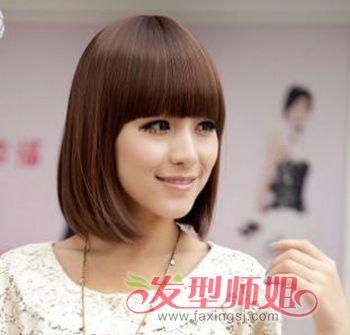 短发直发酷发型女 中短发直发发型图片图片