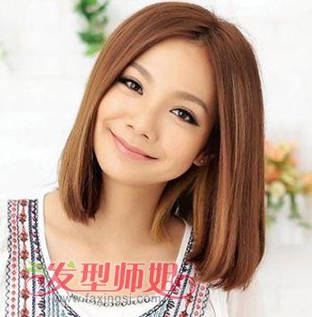 中短发直发发型图片 发型师姐图片