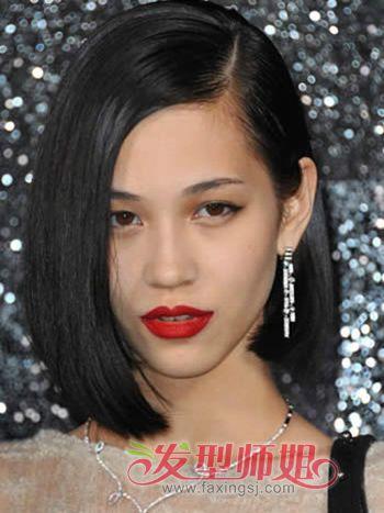 女生短发直发型图 2016中短发直发发型