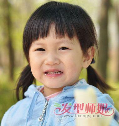 儿童头发没过肩发型扎法