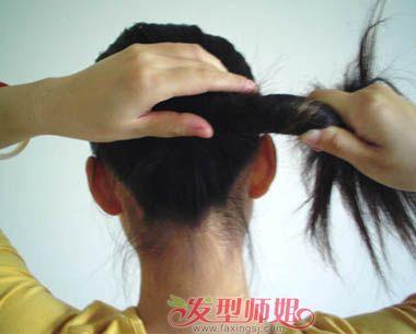 丸子头哦~拥有中长发的人都能很轻松的学会簪子盘发,如何正确使用盘发图片