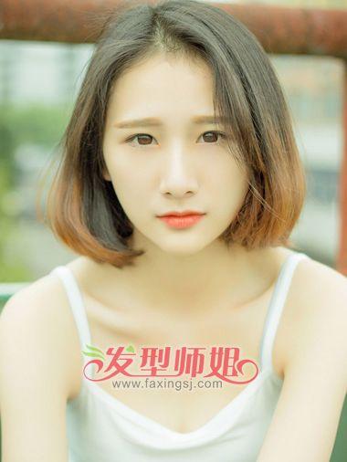 没刘海的好看的学生头型自己怎么梳 中学生没刘海的发型图片