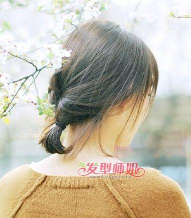 初中女生短发直发图 初一学生短直发扎法(3)_发型师姐图片