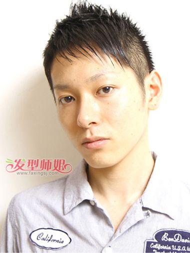 男生两边剃掉斜刘海发型-男生两边推发型 男士发型两边剃掉 发型师姐图片