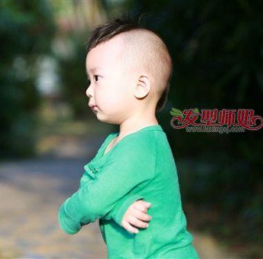 小头型发型剃头发有型男孩婴儿寿桃图片婴儿翠丝男孩碧图片
